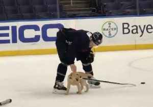 St. Louis Blues Welcome Their Adorable Teammate to Practice [Video]