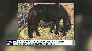 Father of man charged with animal abuse defends his son [Video]