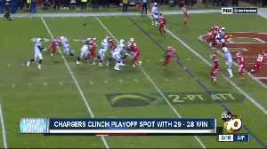 Chargers clinch playoff spot with 29-28 win [Video]