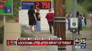 Students released from Apache Junction High School after lockdown lifted [Video]