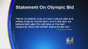 Salt Lake City, Not Denver, Chosen To Bid For Winter Olympics