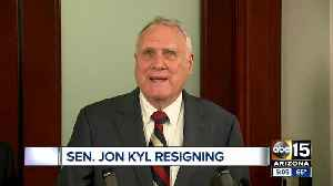 News video: Sen. Jon Kyl to resign, Gov. Ducey reportedly favoring McSally as successor