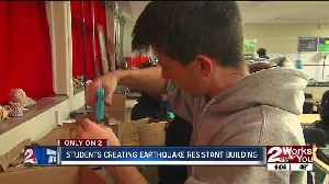 Memorial High students create mock buildings to withstand quakes [Video]