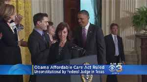 Obama's Affordable Care Act Ruled Unconstitutional By Federal Judge [Video]