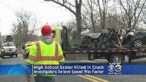 Senior Killed In Crash While Driving To John Dickinson High School, Police Say [Video]