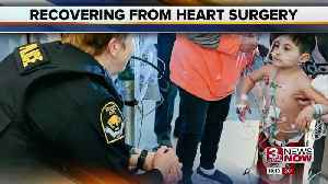 Omaha Police visit boy recovering from fourth heart surgery [Video]