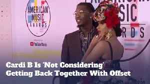 Cardi B Isn't Planning A Reconciliation With Offset [Video]