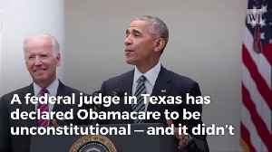 Federal Judge Rules Obamacare Unconstitutional, Trump Steps In For The Knockout Blow [Video]