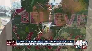 Families impacted by violence treated to holiday gifts, meals [Video]