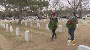 News video: Holiday Wreaths Don Gravestones Of Fallen Service Members