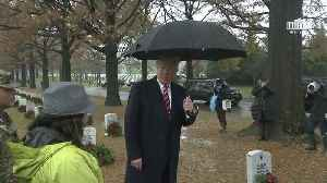 News video: Trump Comments On Ruling Against Obamacare During Arlington Cemetery Visit