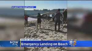 Plane Makes Emergency Landing On Beach [Video]