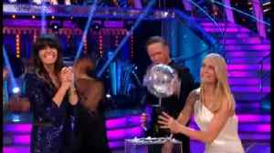 Kevin Clifton and Stacey Dooley Lift The Strictly Come Dancing Trophy [Video]