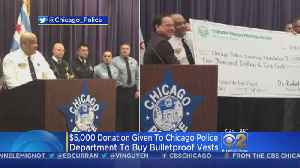 CPD Receives $5,000 Donation For Bulletproof Vests In Memory Of Mercy Hospital Shooting Victims [Video]