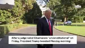 Trump Slams Obamacare Deductible, Says 'Great Healthcare' Is Possible After Ruling [Video]