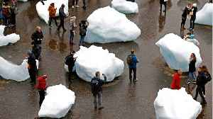 Artist Exhibits Melting Icebergs From Greenland At London Museum To Address Climate Change [Video]