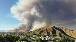 Timelapse Shows Smoke From Charlie Fire Over Santa Clarita [Video]