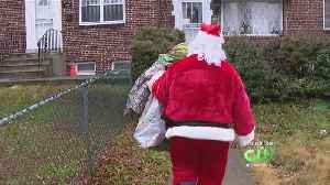 Santa Delivers Toys Collected By Camden County Police Officers [Video]