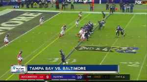 News video: Tampa Bay Buccaneers' futile chase of Lamar Jackson results in 20-12 loss that ends team's pursuit of a playoff berth
