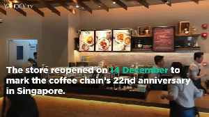 Starbucks reopens store at Tampines Mall as two-storey building [Video]