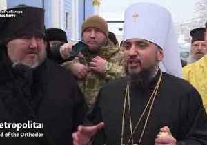 Leader of New Ukrainian Church Calls for End to 'Occupation' of Crimea and Eastern Ukraine [Video]