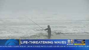 Dangerous Waves Off Coast; Mavericks Surf Contest Postponed [Video]