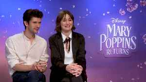 'Mary Poppins Returns': Exclusive Interview With Emily Mortimer, Ben Whishaw & Rob Marshall [Video]