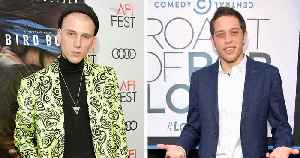Pete Davidson Seen with Machine Gun Kelly After Brief SNL Appearance & Troubling Social Media Note [Video]