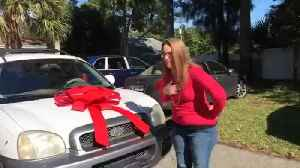 Couple donates SUV to homeless mother in Stuart [Video]