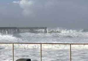 Waves Batter Pacifica Pier as National Weather Service Warns of Deadly Surf [Video]