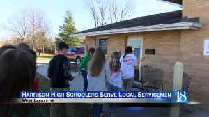 Harrison High Schoolers serve local servicemen [Video]