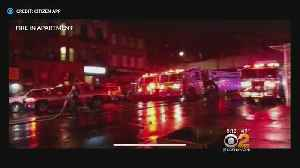 10 Firefighters, Residents Hurt In East Harlem Fire [Video]