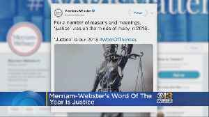 Merriam-Webster Announces 'Justice' Is Word Of the Year [Video]