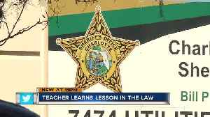 Florida teacher accused of filing false police report as cover for being late for work [Video]