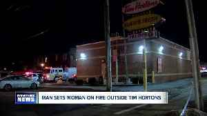 Police: Man sets woman on fire during domestic incident outside Tim Hortons [Video]