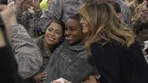 Melania Trump Stuns With Military Visit And Trip To Aircraft Carrier [Video]