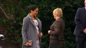Meghan Markle shows off her bump on care home visit [Video]