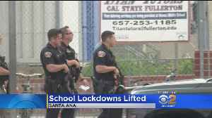 All Clear At 2 Santa Ana Schools After Reports Of Person With A Gun [Video]