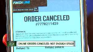 Online orders cancelled after stock runs out [Video]