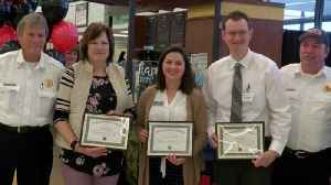 Grocery store workers, shopper recognized for saving man's life [Video]