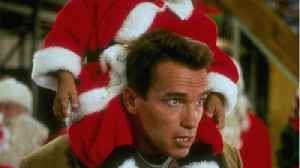 Arnold Schwarzenegger References 'Jingle All the Way' At Charity Event [Video]