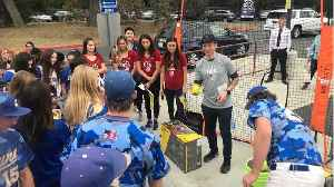 California Schools Hit By Wildfires Get Surprise Visit From Olympians [Video]