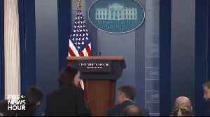 WH Press Reporter Yells After Fast Briefing - Do Your Job Sarah! [Video]