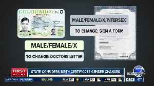 State considers birth certificate gender changes [Video]