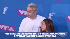 Pete Davidson Won't See Ariana Grande After Suicide Threat On Instagram [Video]