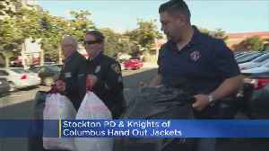 Stockton Police And Knights Of Columbus To Hand Out Jackets [Video]