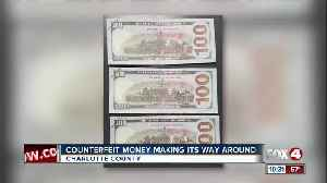 Counterfeit 'training money' found in Charlotte County [Video]