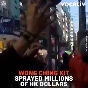 Hong Kong Millionaire Sprays Cash from Rooftop and Gets Arrested [Video]