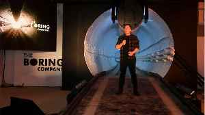 Musk's Boring Company Unveils Its First High Speed, Tesla-Launching Tunnel