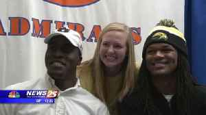 Hall, Newsome sign Division I [Video]